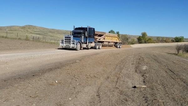 dumping new gravel